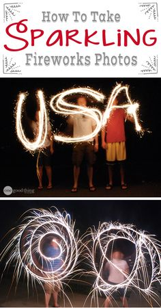 Ever wondered how photographers capture those amazing fireworks and sparkler photos? Wonder no more!