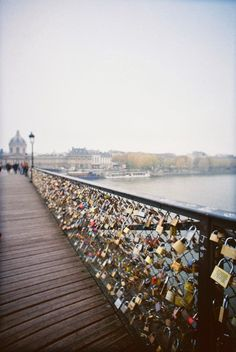 "1. Paris, France ""A walk about Paris will provide lessons in history, beauty, and in the point of Life."" Thomas Jefferson Pont de l'Archevêché - Love Lock Bridge in Paris. My lock is on this bridge!!"