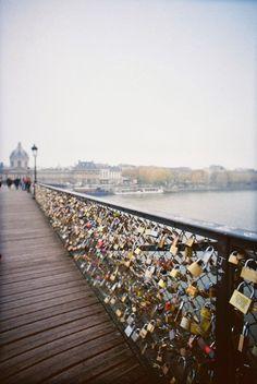 Pont de l'Archevêché - Love Lock Bridge in Paris