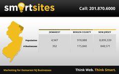 Marketing Statistics for Demarest New Jersey Businesses. 4,947 population, 392 businesses. #DemarestNewJersey