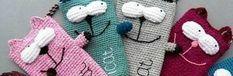 """Smartphone Tasche """"Katze"""" häkeln - https://schoenstricken.de/2013/08/smartphone-tasche-katze-hakeln/"""