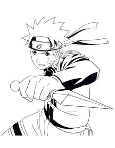 naruto shippuden coloring pages to print