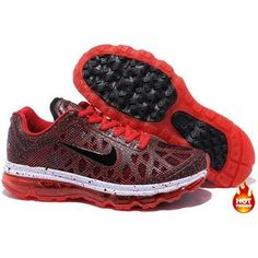 Nike Air Max 2009 Women Mesh Shoes Red/Black Color Air Max 2009, Nike Air Max 2012, Running Shoes For Men, Mens Running, Nike Free, Sneakers Nike, Red Black, Mesh, Color