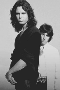 Jim and Doors drummer John Densmore. Jim Morrison ♥ James Douglas Morrison 1943-1971. #JimMorrison #TheDoors #PamelaCourson