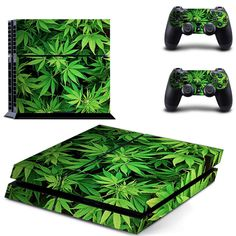 Marijuana Weed Leaf Floral Pattern PS4 Console Controllers Skin Decals #Marijuana #Weed #Leaf #Floral #Pattern #PS4 #Console #Controllers #Skin #Decals
