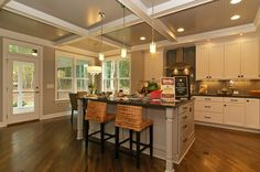 The Sagamore kitchen built by Homes by Dickerson in Heritage. 2013 Silver Winner Wake County Parade of Homes