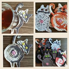 It's very important that you use COTTON for coasters as using an acrylic yarn will get soggy and mushy when wet.