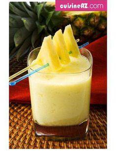Recette Smoothie ananas, bananes et pommes pour 6 personnes - GRAND FRAIS