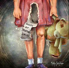 Stop Child Abuse,Me, Digital Painting, 2018 : Art Sad Drawings, Pencil Art Drawings, Art Sketches, Sad Child, Satire, Poster Drawing, Deep Art, Sad Art, Psychedelic Art