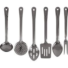 Trademark Tools Whetstone 6-piece Stainless Utensil Set (Whetstone Stainless Utensil (Set of 6)), Silver (Stainless Steel)