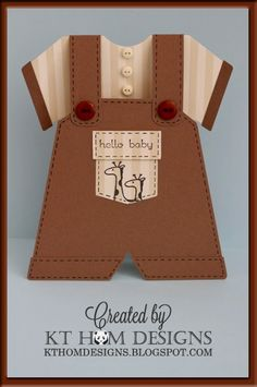 PIN IT FRIDAY FAVS:  Baby Cards Galore!* Pinned from KT Hom Designs Blog * Included template