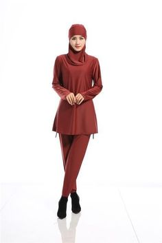 Make Difference Hijab Muslim Swimsuit Girls Muslim Swimwear Plus Size Islamic Swimwear Women Muslim Swimming Costumes 2017 Q5588