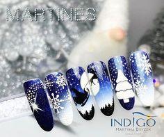 Hasztag #indigoeducator na Instagramie • Zdjęcia i filmy Winter Nail Designs, Christmas Nail Designs, Cool Nail Designs, Christmas Nails 2019, Holiday Nails, Nail Art Noel, Christmas Nail Art, Cute Nails, Pretty Nails