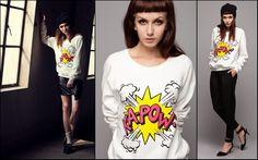 kapow print sweatshirt