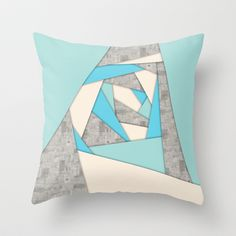 Geometric Shapes Abstract Throw Pillow by Phil Perkins - $20.00