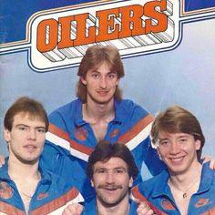 Gretzky, Messier, Anderson, Kurri Hockey Games, Hockey Drills, Wayne Gretzky, Edmonton Oilers, Vancouver Canucks, Sports Memes, Sports Figures, National Hockey League, Hockey Players