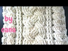 crochet cable pattern stitch - YouTube