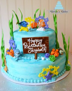 finding nemo cakes | Carisa's Cakes: Two Tier Finding Nemo Cake