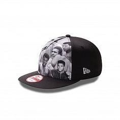 Ali Legend Snap 9FIFTY Snapback  NE-ALILEGENDSNPSP12  	This custom Muhammad Ali™ 9FIFTY® cap features black and white photographic images of Ali at front, stitched New Era® flag at wearer's left side, and a stitched Ali patch at back. A snapback closure for an adjustable fit. Interior includes branded taping and a moisture absorbing sweatband.
