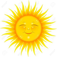 Vector Smiling Sun Over White. Royalty Free Cliparts, Vectors, And ...