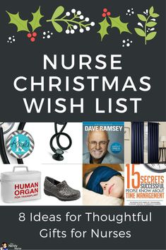 Finding the perfect Christmas gift for nurses just got easier! These are suggestions for nursing students too! Nurse Christmas Wish List - 8 Ideas for Thoughtful Gifts for Nurses Pin now - Read later!