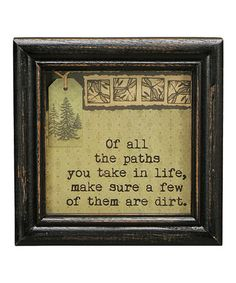 'Of All the Paths' Framed Wall Art by Primitives by Kathy