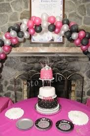 Balloon Arch for a simple sweet sixteen.