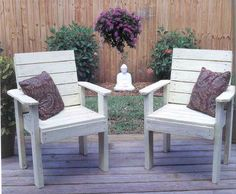 Lawn Chairs, Outdoor Wood Plans, IMMEDIATE DOWNLOAD