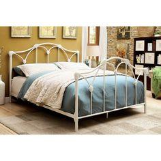 furniture of america camille contemporary white metal platform bed by furniture of america amisco bridge bed 12371 furniture bedroom urban