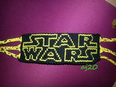 Star Wars friendship bracelet pattern nimber - For more patterns and tutorials visit our web or the app! Bracelet Crafts, Cord Bracelets, Diy Jewellery, Handmade Jewelry, Beadwork, Beading, Embroidery Floss Bracelets, Computer Font, Chevron Friendship Bracelets