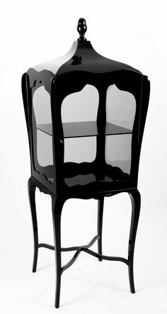 Modern Black Display Cabinet -- Boca Do Lobo Palatino