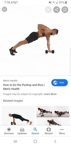 Health Images, Back And Biceps, Push Up, The Row, Learning, Movies, Movie Posters, Men, Films