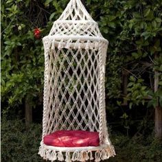 rope chair swing leap steelcase 108 best the of things images gardens balcony chairs birdcage hammock macrame knots crochet diy