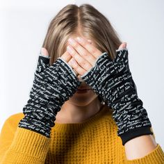 Dracula Writing Gloves - Featuring text from Bram Stoker's Classic novel.