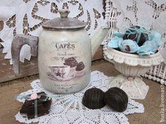 """Винтажный чайник """"Cafes"""" - бирюзовый,чайник,кухонный интерьер,винтаж,для интерьера"""