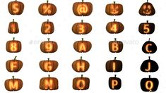 Text Graphics & Renders - Jack O'lantern Pack - Text Graphics & Renders by botiordog. Graphic Design Templates, Print Templates, 3d Text, Light Letters, Pumpkin Lights, Retro Lighting, Layer Style, Text Style, Jack O