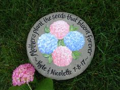 Mother of the Groom, Mother of the Bride Gift, Mother Gift, Gift for Mothers, Stepping Stone, PERSONALIZED to Your WEDDING FLOWERS!! by samdesigns22 on Etsy