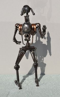 Hand Made BATTLE DROID 12 Inches Recycled Scrap Metal. $95.00, via Etsy.