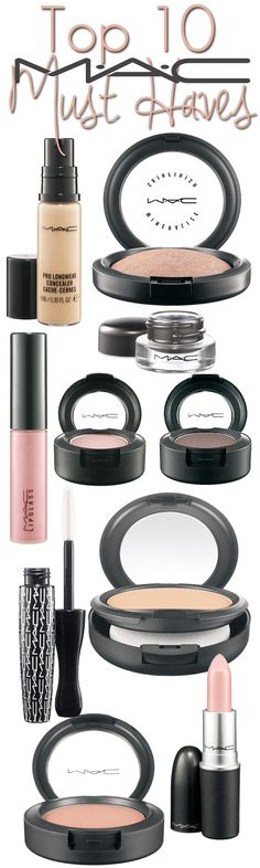 Top 10 MAC Must Haves - The MAC makeup products you need in your makeup bag. have some of these and YES THEYRE AMAZING. worth the money.