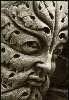 """2. """"Green Man"""" ( Early Gothic period) 13th century, Bamberg Cathedral, Germany"""