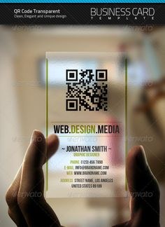 50 unusual and brilliant business card designs and ideas for you qr transparent business card reheart Gallery