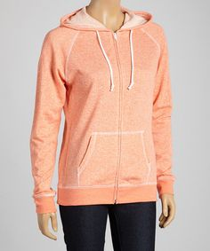 Look at this Papaya French Terry Zip-Up Hoodie on #zulily today!