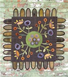 Primitive Folk Art Wool Applique Penny Rug by PrimFolkArtShop, $7.75
