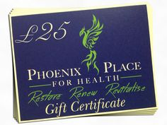 Give a Gift Voucher for any of our treatments at www.phoenixplaceforhealth.co.uk