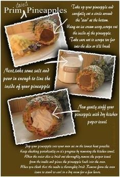 ♥ The Primitive Pantry ♥: THE ORIGINAL Dried Primitive Pineapple Tutorial by janet