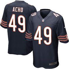 Nike Game Sam Acho Navy Blue Men's Jersey - Chicago Bears #49 NFL Home