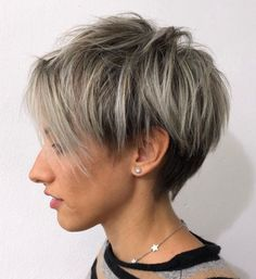 70 Overwhelming Ideas for Short Choppy Haircuts Uneven Wispy Razored Pixie Short Choppy Haircuts, Short Hairstyles For Women, Short Hair Cuts, Short Hair Styles, Choppy Bangs, Latest Haircuts, Easy Hairstyles, Bobs For Thin Hair, Silver Blonde