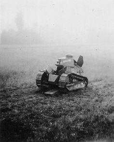 "WWI. Abandoned French light tank Renault FT-17 ""Le Fantask"""