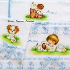 """""""Kit Voltinha"""" do Antônio.  --> 3 peças:  1 Fralda de Passeio - 70 x 70 cm; 1 Fralda de Ombro - 70 x 35 cm; 1 Fralda de Boca - 35 x 35 cm;"""