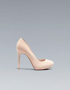 one of the coolest nudes    SUEDE COURT SHOE - Shoes - Woman - ZARA